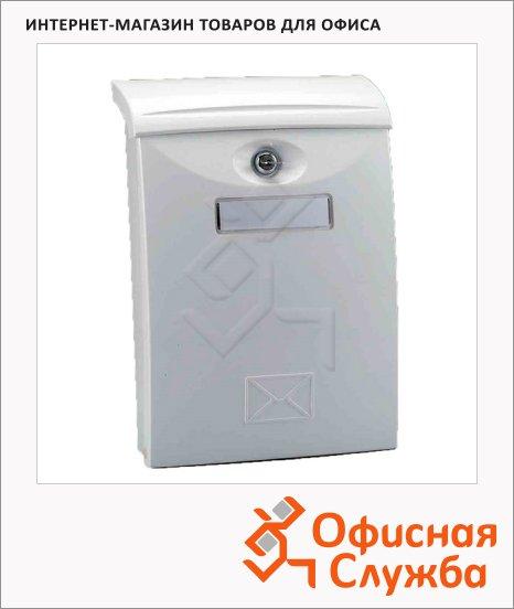 Почтовый ящик Shyn LTP 03 пластик, белый, 411х271х105мм