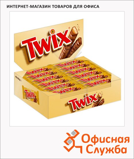 фото: Батончик шоколадный Twix 40шт х 55г