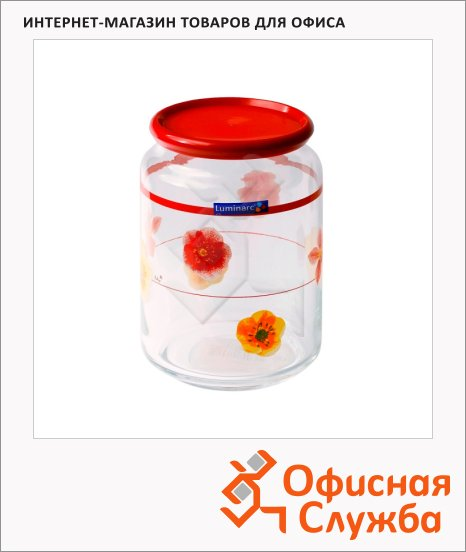 Банка для сыпучих продуктов Luminarc Rondo 0.75л, стекло, с плотно прилегающей крышкой
