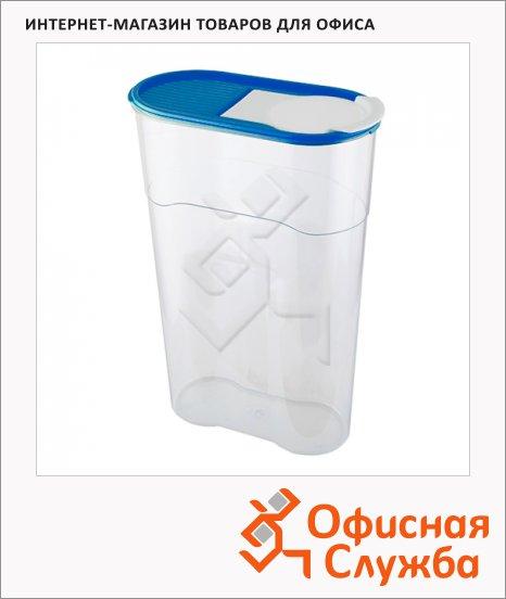фото: Банка для сыпучих продуктов Полимербыт Люкс 2.3л пластик, с плотно прилегающей крышкой с дозатором
