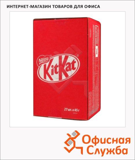 фото: Батончик шоколадный Kit Kat вафельный 27шт х 45г