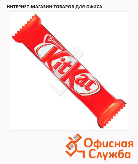 фото: Батончик шоколадный Kit Kat вафельный 35шт х 58г