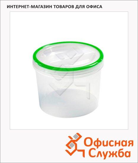 Банка для сыпучих продуктов Phibo Винтаж 1.2л, пластик, с закручивающейся крышкой