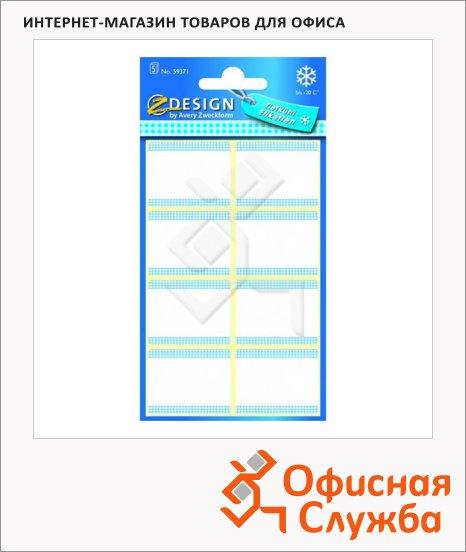 Этикетки морозостойкие Avery Zweckform Z-Desing 59371, белые, 76х120мм, 8шт на листе, 5 листов, 30шт, надписи от руки