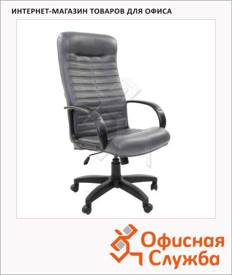 Кресло руководителя Chairman 480LT иск. кожа, крестовина хром, серая
