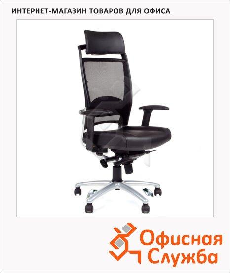 Кресло руководителя Chairman 281-А ткань, черная, крестовина хром