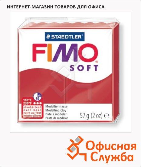 Полимерная глина Fimo Soft рождественский красный, 57г