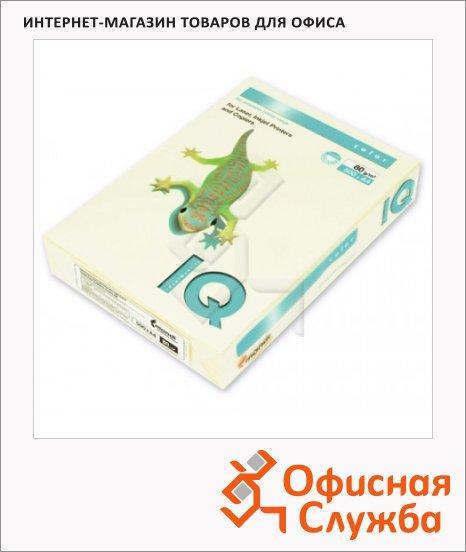 Цветная бумага для принтера Iq Color ванильно-бежевая, А4, BE66, 500 листов, 80г/м2