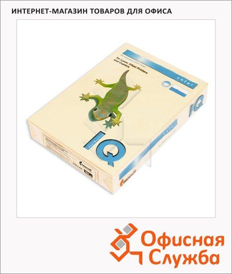 Цветная бумага для принтера Iq Color кремовая, А4, CR20, 100 листов, 80г/м2