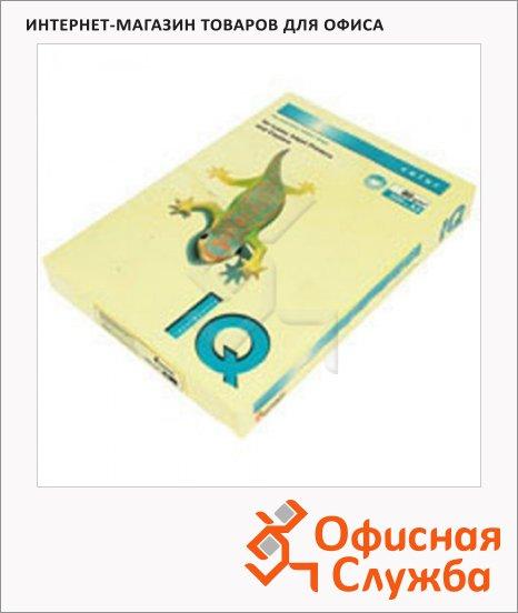 Цветная бумага для принтера Iq Color канареечно-желтая, А4, 80г/м2, CY39, 500 листов