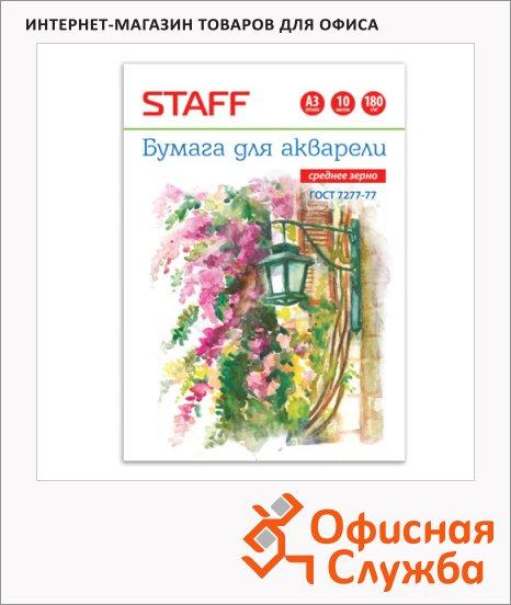 фото: Папка для акварели Staff А3 180 г/м2, 10 листов