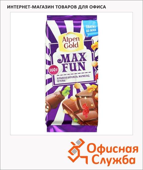Шоколад Alpen Gold Max Fun, Взрывная карамель, 160г
