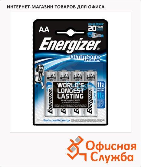 фото: Батарейка Energizer Ultimate Lithium AA/LR6 1.5В, литиевая, 4шт/уп