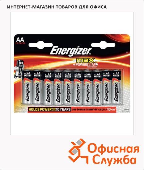 фото: Батарейка Energizer Max АА/LR6 1.5В, алкалиновые, алкалиновая, 16шт/уп