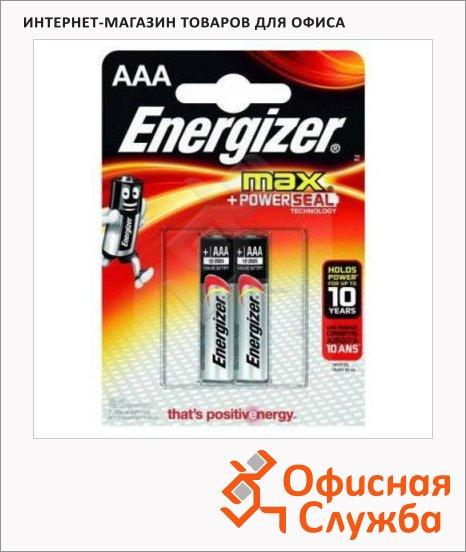 фото: Батарейка Energizer Max ААА/LR03 1.5В, алкалиновая, 2шт/уп