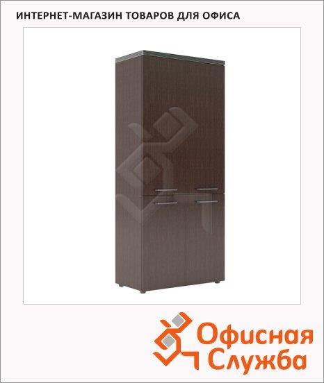 Шкаф Skyland Torr THC 85.3, со средними дверьми, с топом, венге магия, 854х452х1968мм