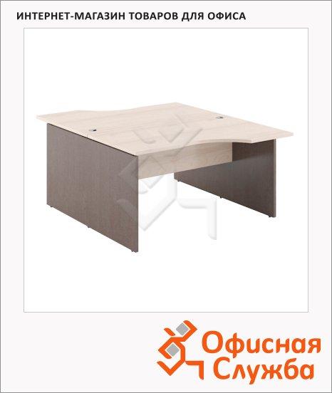 Стол письменный Skyland Xten X2CET 169.1, двойной, 1600х1810х750мм, береза норд/рено
