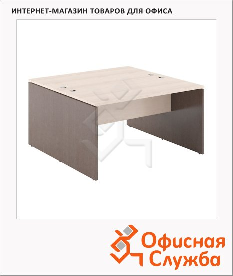 Стол письменный Skyland Xten X2ST 127, двойной, 1200х1410х750мм, береза норд/рено