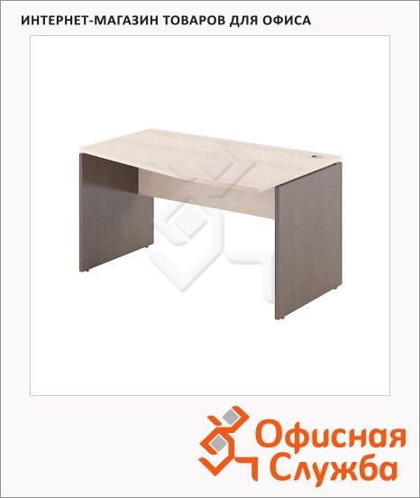 Стол письменный Skyland Xten XCT 149, эргономичный, правый, 1400х900х750мм, береза норд/рено