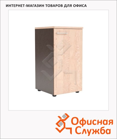 Шкаф-колонка Skyland Xten XLC 42.1, правый, 432х452х820мм, с глухой малой дверью, с топом, береза норд/рено