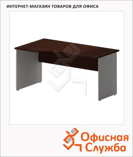 фото: Стол письменный Imago СА-1 эргономичный, левый, венге/металлик, 1600х900х755мм