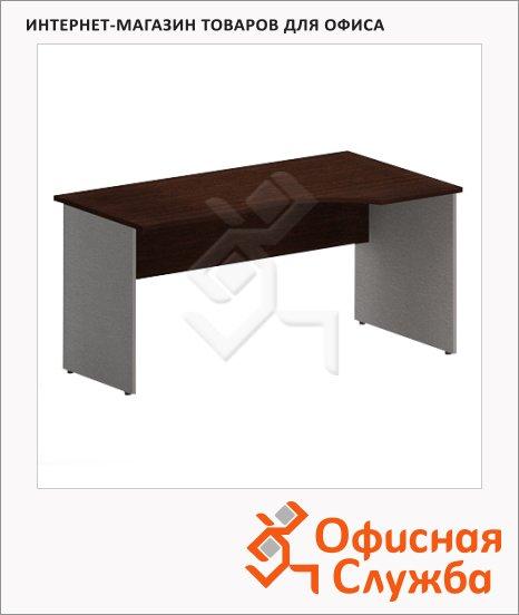 Стол письменный Skyland Imago СА-2, эргономичный, правый, венге/металлик, 1400х900х755мм