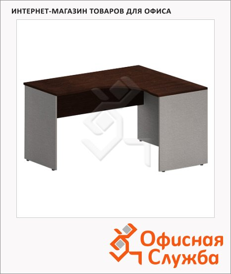 Стол письменный Skyland Imago СА-4, эргономичный, правый, венге/металлик, 1600х1200х755мм