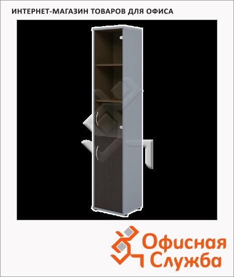 фото: Шкаф-колонка Skyland Imago СУ-1.2 правый, 403х365х1975мм, венге/металлик