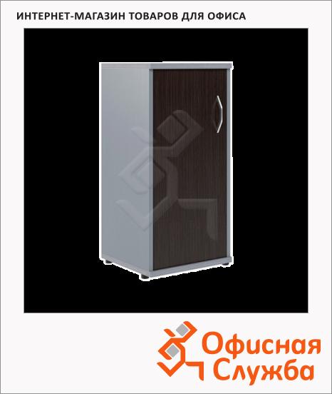 фото: Шкаф-колонка Skyland Imago СУ-3.1 левый, 403х365х823мм, венге/металлик