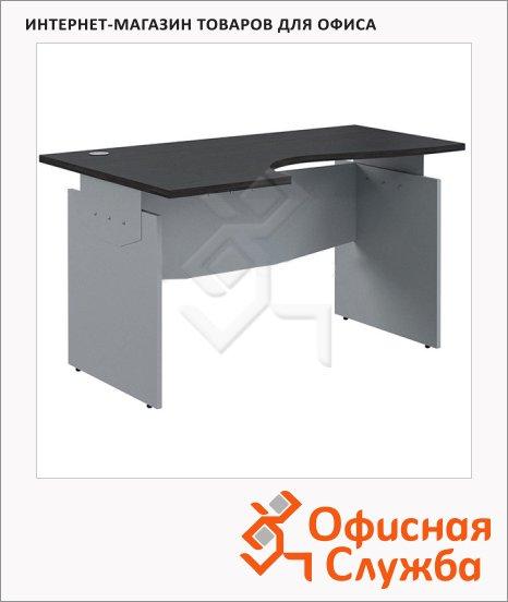 Стол письменный Skyland Offix 1/X06, эргономичный, левый, 1600x1400x760мм, венге/металлик