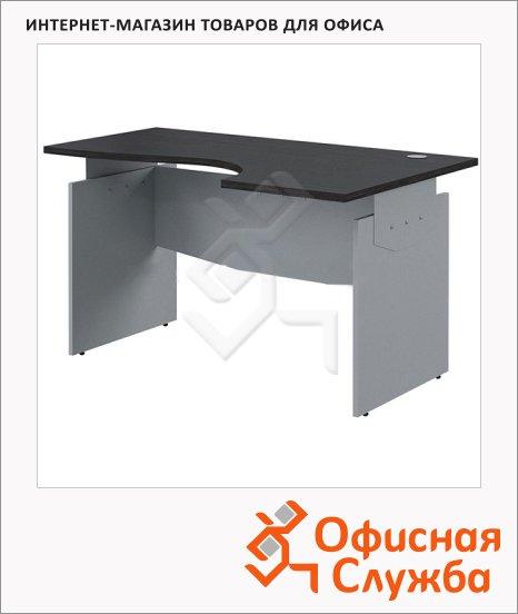 Стол письменный Skyland Offix 1/X06, эргономичный, правый, 1600x1400x760мм, венге/металлик