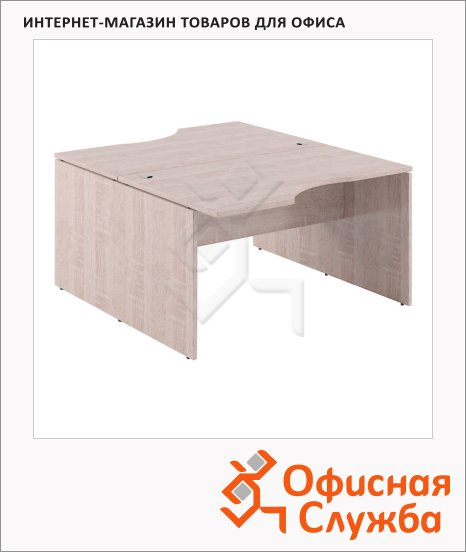Стол письменный Skyland Xten X2CET 149.2, двойной, 1400х1810х750мм, дуб сонома