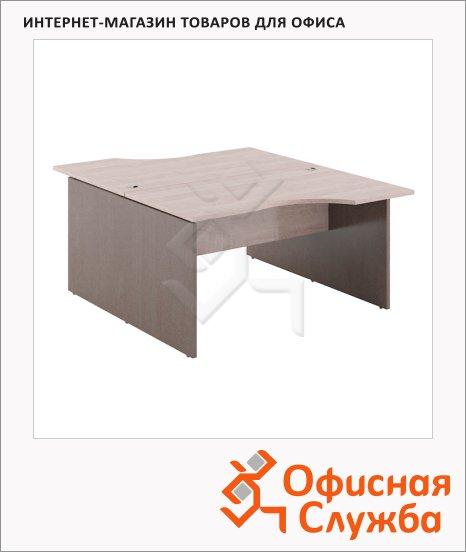 Стол письменный Skyland Xten X2CET 149.1, двойной, 1400х1810х750мм, дуб сонома/рено