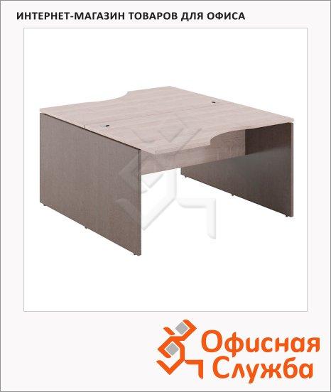 Стол письменный Skyland Xten X2CET 149.2, двойной, 1400х1810х750мм, дуб сонома/рено