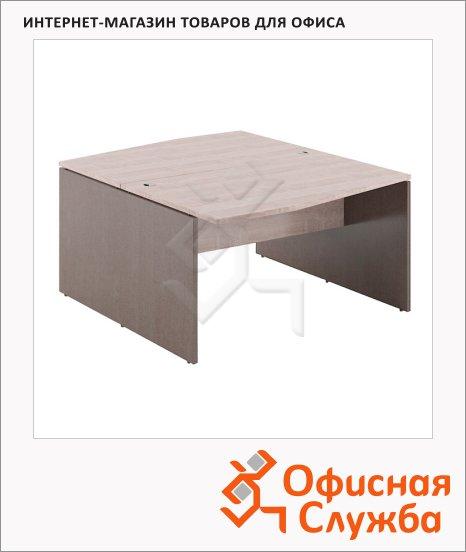 Стол письменный Skyland Xten X2CT 149.2, двойной, 1400х1810х750мм, дуб сонома/рено