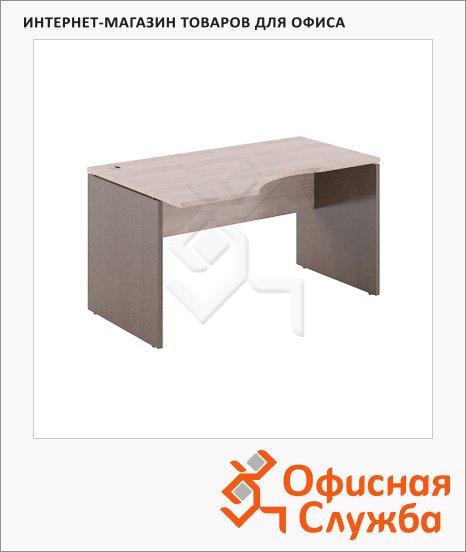 Стол письменный Skyland Xten XCET 149, эргономичный, левый, 1400х900х750мм, дуб сонома/рено