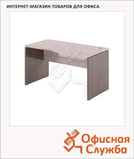 Стол письменный Skyland Xten XCET 149, эргономичный, правый, 1400х900х750мм, дуб сонома/рено