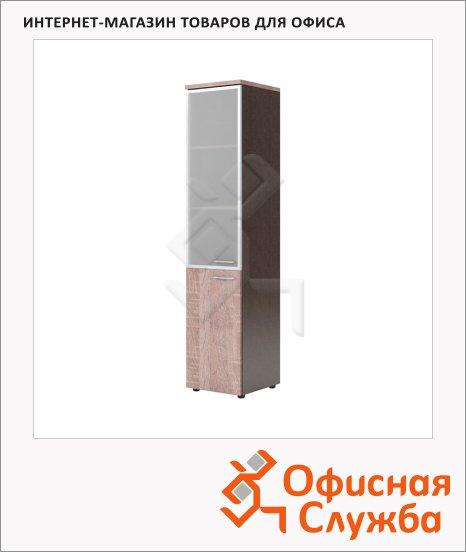 фото: Шкаф-колонка Xten дуб сонома/рено левый, 432х452х1955мм, комбинированный