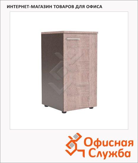 Шкаф-колонка Skyland Xten XLC 42.1, правый, 432х452х820мм, с глухой малой дверью, с топом, дуб сонома/рено