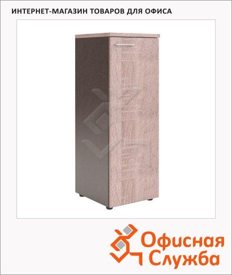 Шкаф-колонка Skyland Xten XMC 42.1, 432х452х1190мм, с глухой средней дверью, с топом, дуб сонома/рено