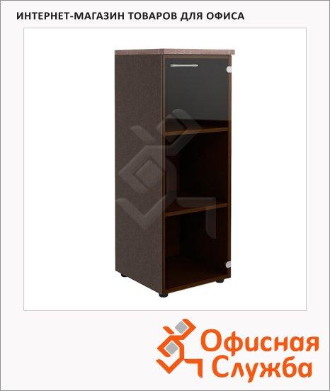 Шкаф-колонка Skyland Xten XMC 42.2, дуб сонома/рено, 432х452х1190мм, со стеклянной дверью, с топом