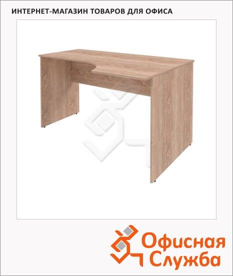 Стол письменный Skyland Simple SE-1600, эргономичный, правый, 1600х900х760мм, дуб сонома светлый