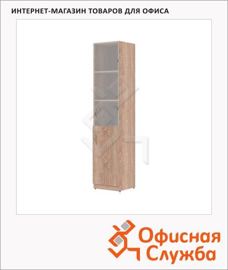 фото: Шкаф-колонка Skyland Simple SR-5U.2 правый, 386х375х1815мм, комбинированый, дуб сонома светлый
