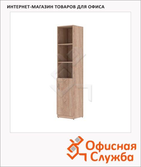 Шкаф-колонка Skyland Simple SR-5U.5, правый, 386х375х1815мм, дуб сонома светлый
