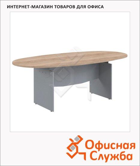фото: Стол переговорный Skyland Offix NEW OST 2211 2200x1100x750мм, дуб сонома светлый/металлик
