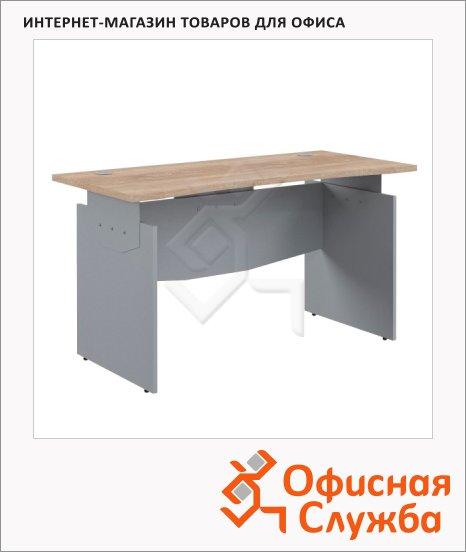 Стол письменный Skyland Offix NEW OST 167, эргономичный, 1600x640x750мм, дуб сонома светлый/металлик
