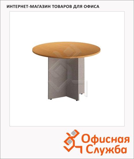 фото: Стол переговорный Skyland Imago ПРГ-1 круглый, клен/металлик, d=1100мм