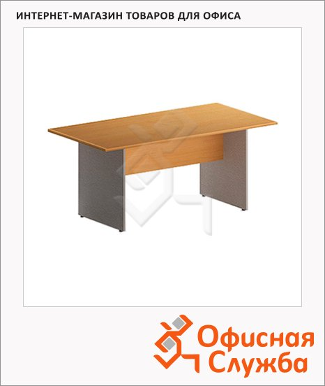 Стол переговорный Skyland Imago ПРГ-2, 1800х900х755мм, клен/металлик