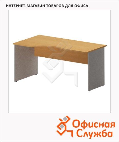 Стол письменный Skyland Imago СА-1, эргономичный, левый, 1600х900х755мм, клен/металлик