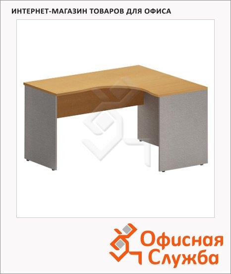 Стол письменный Skyland Imago СА-3, эргономичный, правый, клен/металлик, 1400х1200х755мм